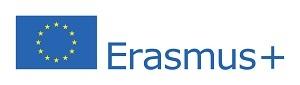 Logo Erasmus+ (flaga Unii Europejskiej na białym tle i obok napis Erasmus+)
