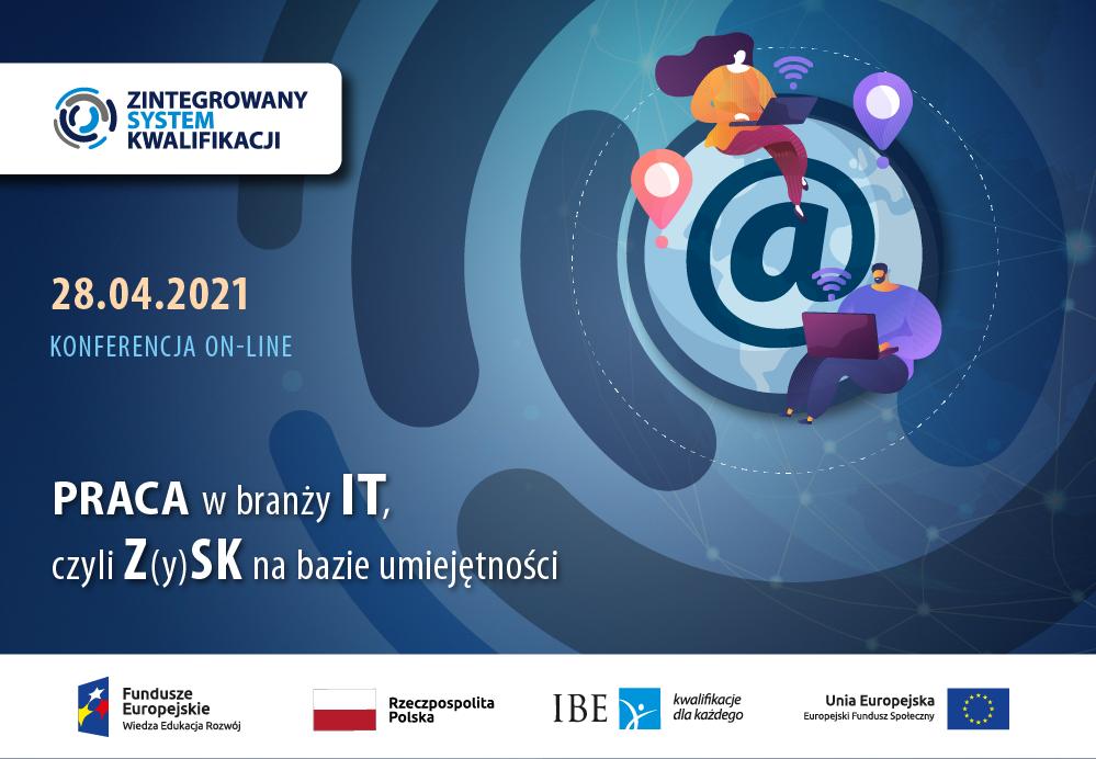 Grafika wektorowa przedstawiająca między innymi logo Zintegrowanego Systemu Kwalifikacji, Funduszy Europejskich, Rzeczpospolitej Polskiej, Instytutu Badań Edukacyjnych oraz Unii Europejskiej.