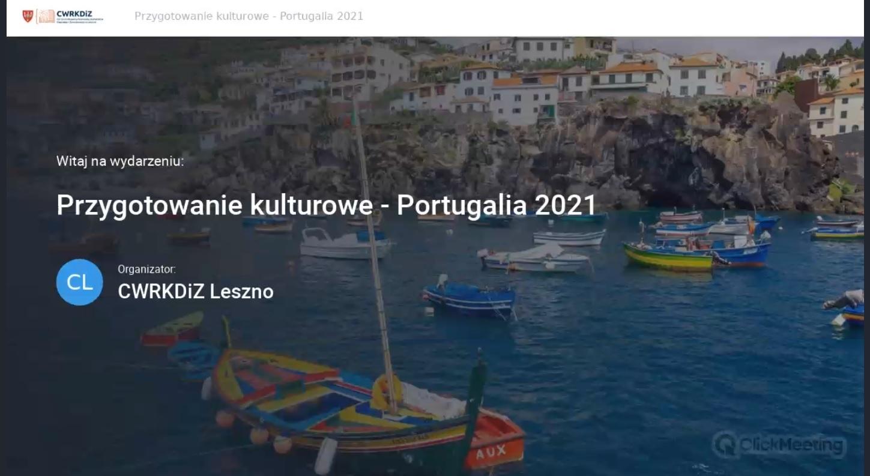 Screen z rozpoczęcia przygotowania online. W tle widać łodzie na morzu, a na pierwszym planie nazwa spotkania.